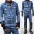 new design Vintage Workwear Denim Blue Jumpsuit man denim jumpsit