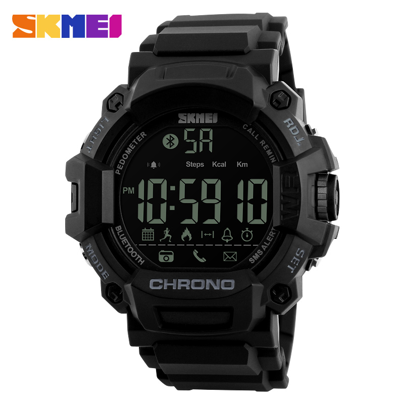 SKMEI 1249 Sport Smart Watch Android IOS Call Remind Waterproof Calories Digital Men Pedometer Bluetooth Fitness Men Wrist Watch