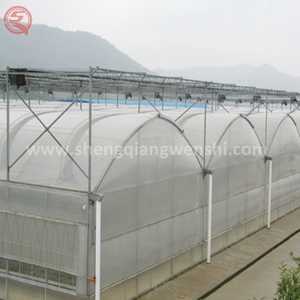 Agriculture equipment 10.0m single span plastic film green house for sale