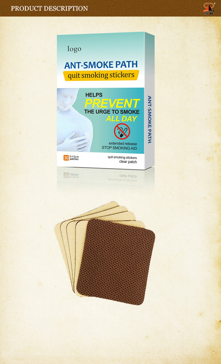Shaolin China oem best sales herbal quit anti-smoking patch