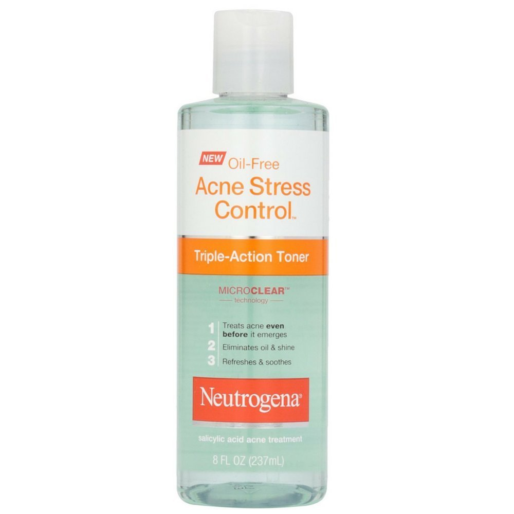 Neutrogena Oil-Free Acne Stress Control Triple-Action Toner, 8 Fluid Ounce (Pack of 2)