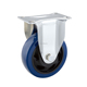 Rigid blue PU caster wheel 3-5 inch industrial cart caster