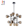 Hot Sell Bulb Shaped Hanging Lamp Modern Decorative Colored Glass Ball Led Chandelier Pendant Lights