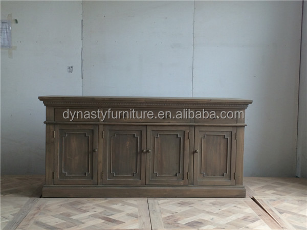 high quality rustic Natural wooden kitchen sideboard