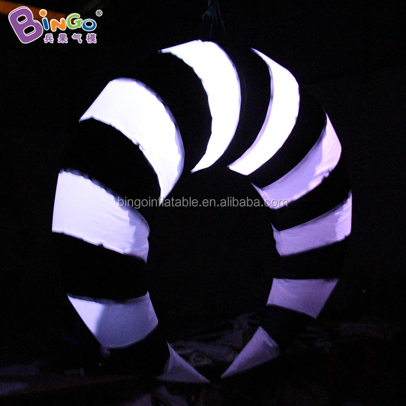 Hanging air pop Horn lamp inflatable led ivory light balloon for nightclub decoration