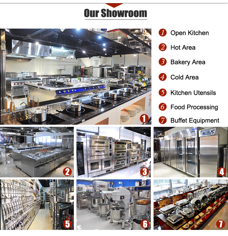 5 Star Hotel OPEN KITCHEN Stainless Steel Restaurant Kitchen Equipment /Kitchen Appliance Commercial for Sale Guangzhou China