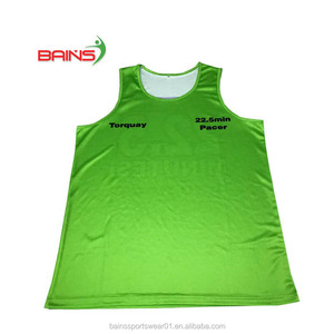 Wholesale price quick dry custom sublimated running singlet