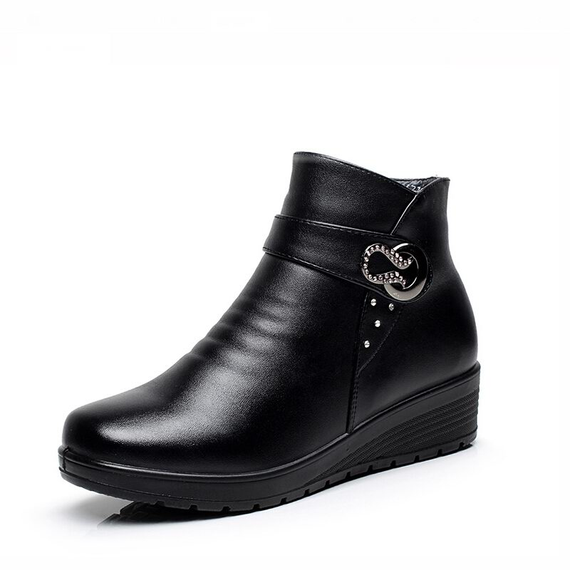 winter boots genuine leather 2015 fashion women boots