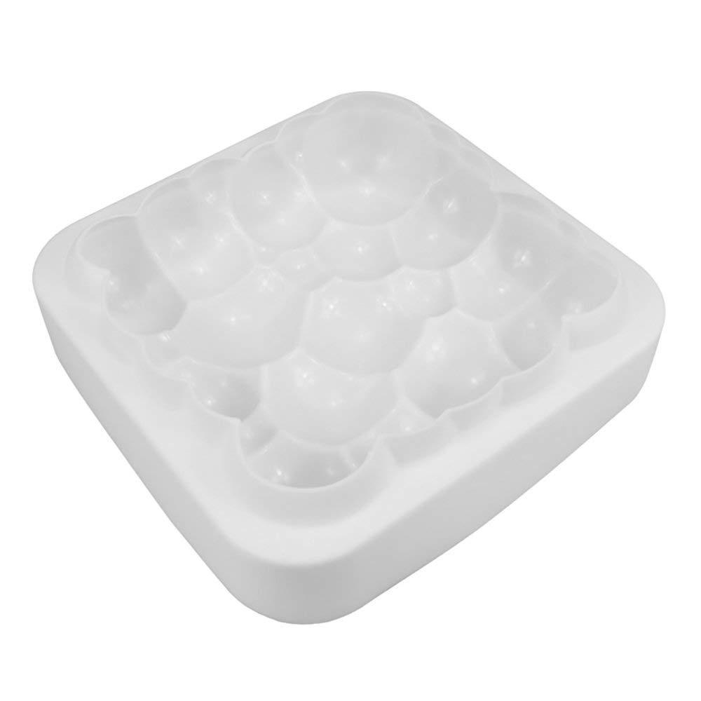 ANLIN 1PCS Cloud Shape Mousse Cake Silicone Mold 3D Square Silicone Cake Mold Non-Stick Mousse Pan Baking Tools