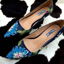 pointed Printed shoes Printed leather leather pointed shoes singles singles xpvpwXF4rq