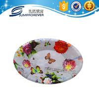 Most beautiful and hot sale deep flower series plastic charge plate