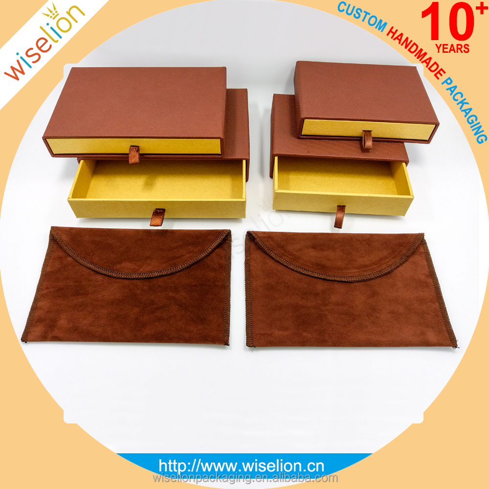 Custom Luxury kraft paper drawer box jewelry jewellery box for packing all kinds of jewellery