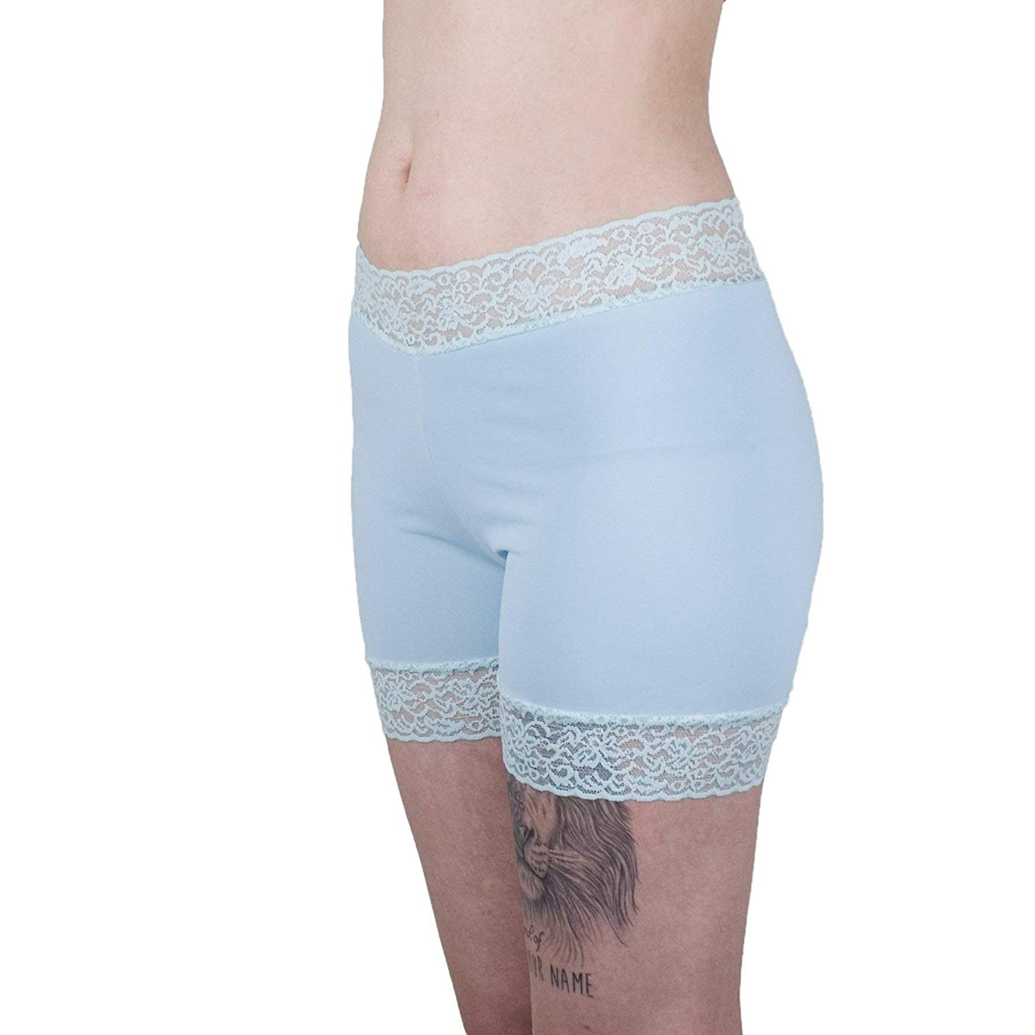 c516d9e12cc Get Quotations · Mint Underpants Lace Trimmed Biker Shorts Women s Boxer  Briefs