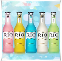 275ml Rio Cocktail Empty Frosted Glass Bottle With Metal Crown Cap, 2015 Most Popular Glass Bottle With Clear/frosted Surface