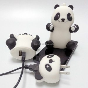 Cute cartoon power bank High Capacity panda shape Power Bank for Smart Phones