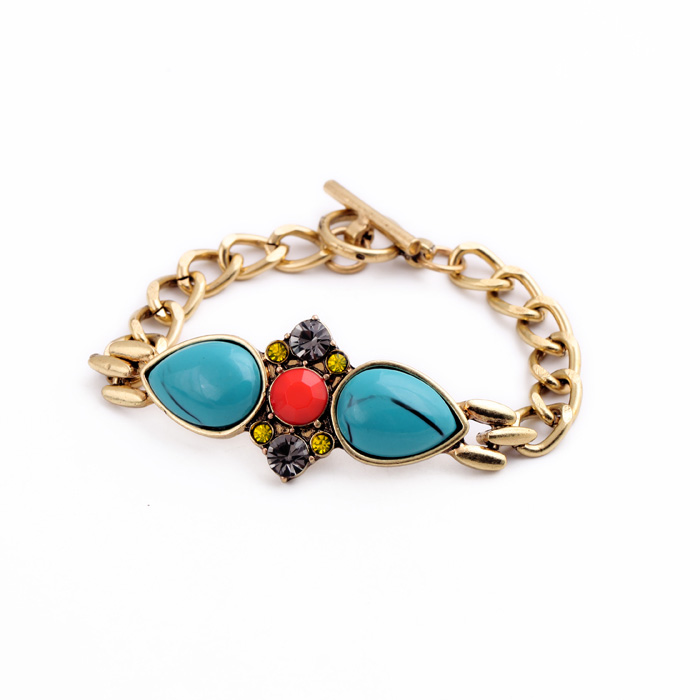 wholesale all kinds of bracelet pretty vintage brass turquoise bracelet canadian wholesale jewelry