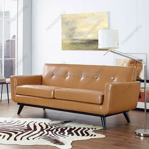 Wholesale living room hardwood frame and bonded leather sofa set