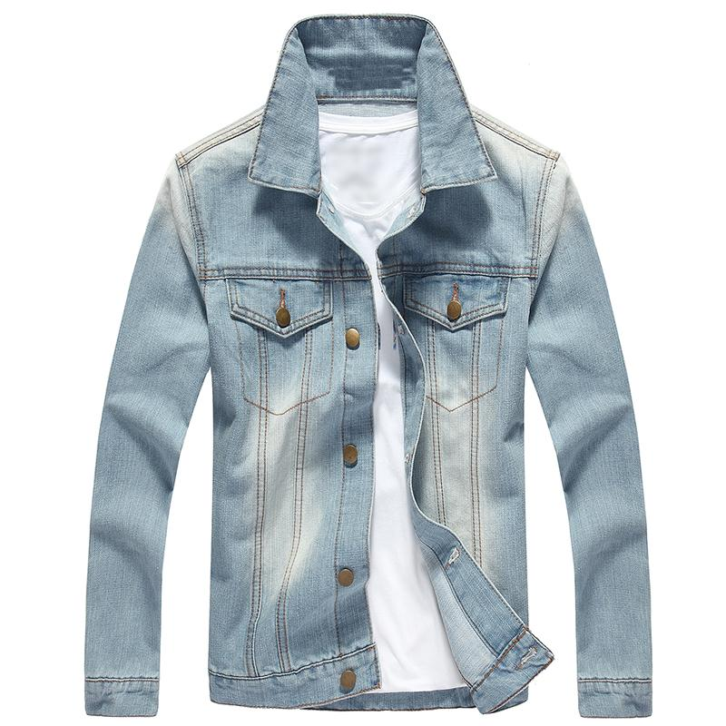 Buy male denim jacket jeans jacket denim jackets for men 2015 fall ...