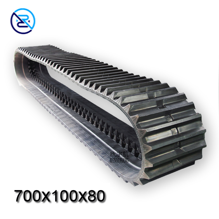 Hot sale Rubber Track 300X109X35 Fits made in China robot rubber track undercarriage