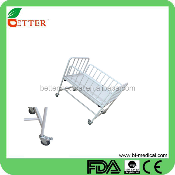 Best stainless steel white baby crib