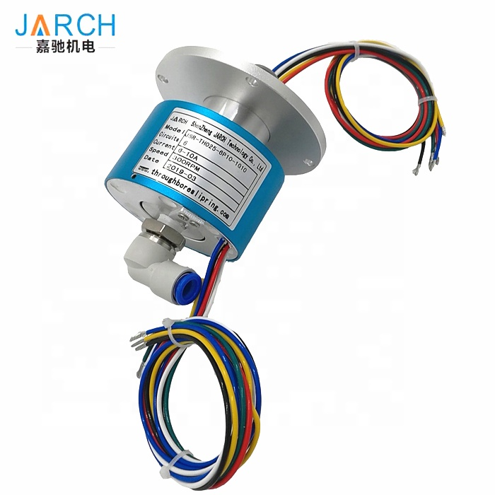 6 rings 5A Slip Rings Connect Pneumatic Rotary Union SMC KSL10-02S air pipe 10mm