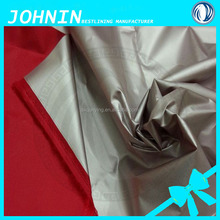 shaoxing factory lightweight waterproof fabric 190T polyester taffeta tent fabric taffeta silver coated fabric