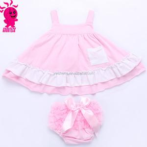 e016e79841ea Kids Girl Boutique Clothing Sets Wholesale Children s Cotton Ruffled Shorts  Summer Outfit Two Pieces Sets