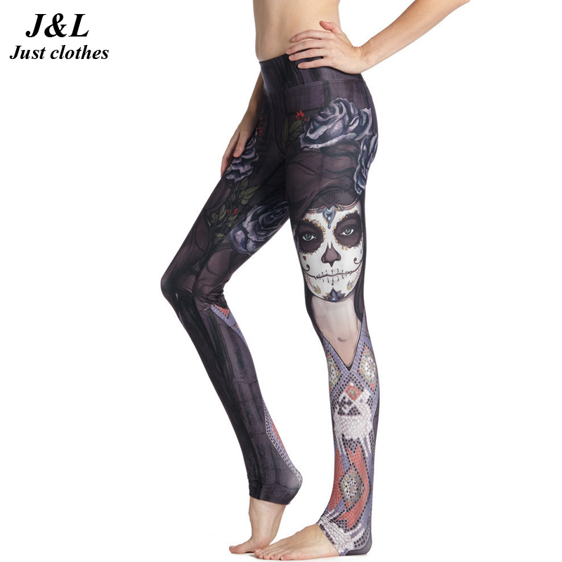 9c5a0dce30f6 Funny Girl Printing Compression Pants Women Sporting Leggings Fitness New  3D Legging 15 Styles Elastic Workout