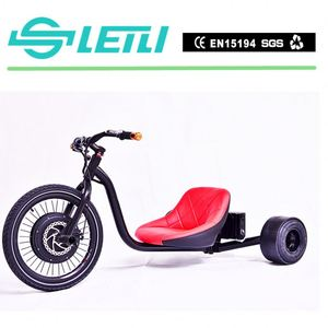 black adult folding aluminum tricycle for cargo and passenger trike