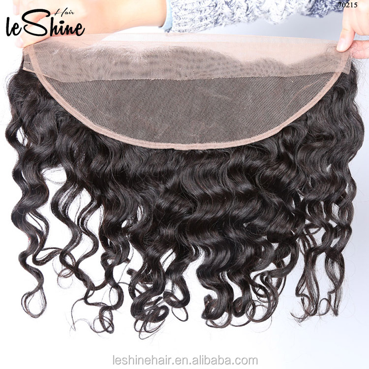 Factory sale on stock double weft no tangle no shedding virgin remy virgin brazilian hair lace frontals