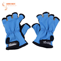1 Pair New Arrival Slip Resistant Cotton Gloves Skidproof Resistant Half Finger Fishing Rod Anti Slip