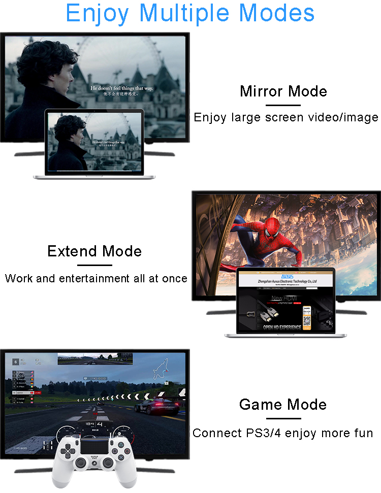 enjoy multiple modes