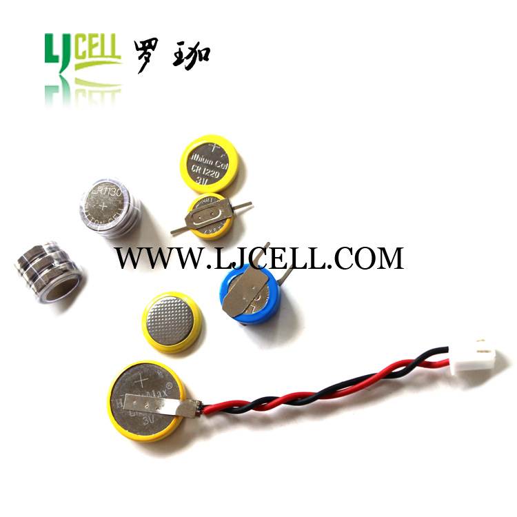 3V CR1616-1F2 CR1616 battery with SMT/SMD solder tabs , 3v cr1616 battery smt pins for CR1616