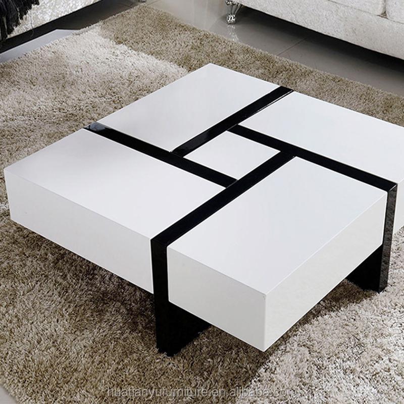 Multifunction Storage Square Black