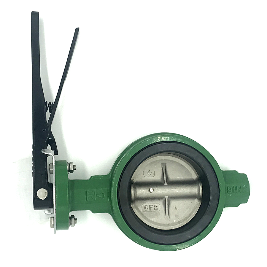 4 Inch GGG50 Stainless Steel Stiffened Disc Wafer Butterfly Valve With <strong>Gas</strong>