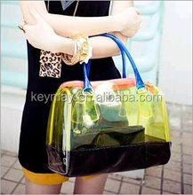 Hot sale new fashion plastic beach bag for women women handbag