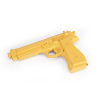 Martial arts training weapon pistol rubber gun