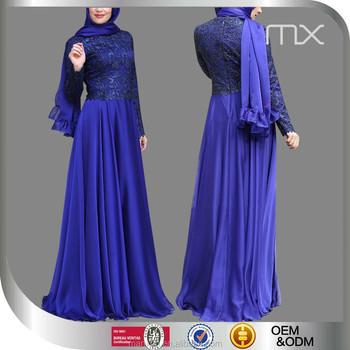 Royal Blue Wedding Dresses Black Lace Liques Burka Design Guangdong China Clothing Manufacturers