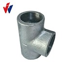 Pakistan Market BS threads baked galvanized malleable iron pipe fittings with plain