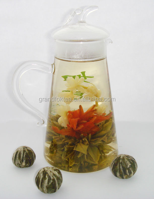 He Jia Huan Le Family Happiness Blooming tea high tea Silver Needle with Lily and Jasmine flowers - 4uTea | 4uTea.com