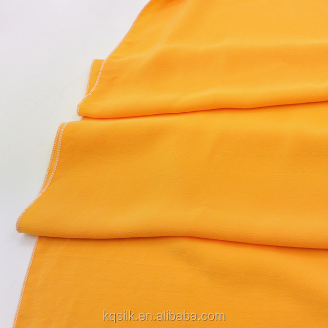 High-end soft drapery sand wash plain dyed/ solid silk crepe de chine fabric for lady clothes