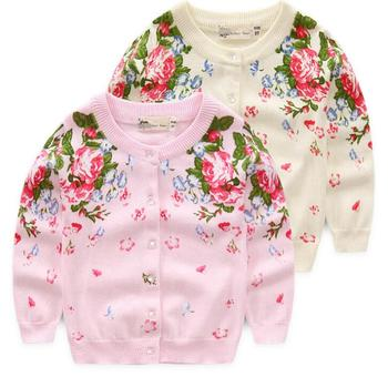 Korean Style V Neck Children Sweaters Printed Coats For Kids Fall Boutique  Girl Clothing , Buy Fall Boutique Girl Clothing,Children Sweaters,Coats For