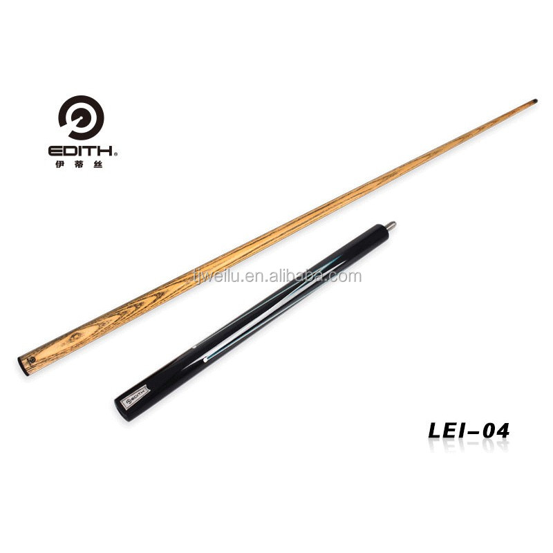 EDITH Snooker cue LEI04 Rosewood Maple dyed black BUTT White Ash SHAFT