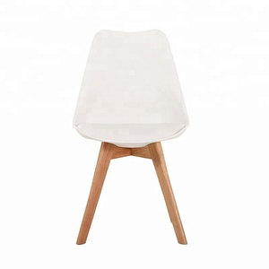 Modern Creative PP Plastic Solid wood feet classic Restaurant Dining Chair