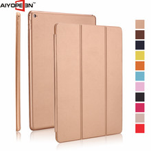 New Arrival Slim PU leather auto sleep smart cover case waterproof case for ipad pro