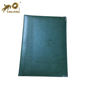 custom pu leather A4 certificate folder printing logo diploma cover