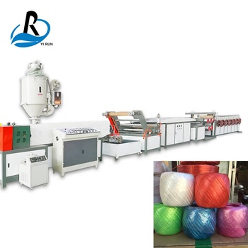 Automatic single-screw plastic net yarn making film extrusion machine/pp strapping rope making machine