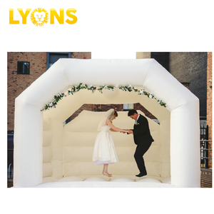White wedding inflatable bounce house ceremony bouncy castle for wedding