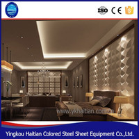 PVC decor 3D embossed background panel board home decoration pop designs Waterproof PVC 3D ceiling Wall Panel