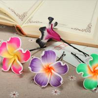 45mm big frangipani flower clay charms diy custom polymer clay beads 2016 clay jewelry accessories